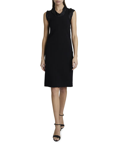 Jacquard Trim Punto Milano Dress