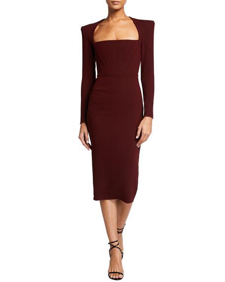Alex Perry Ruby Crepe Midi Dress