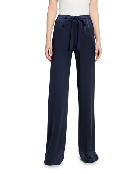 Naeem Khan Satin Drawstring Pants