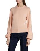 Chloe Crewneck Cashmere Knit Sweater
