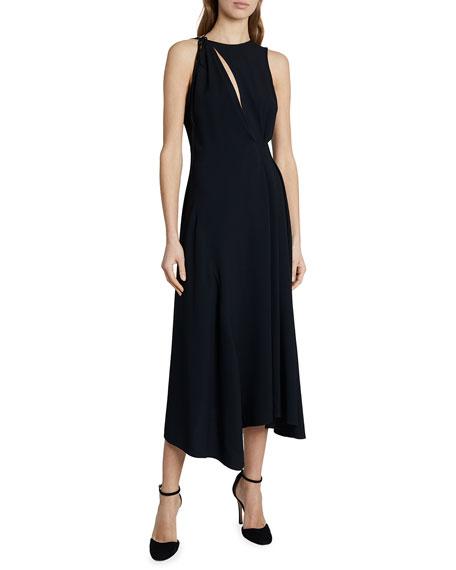 Victoria Beckham Front Slit Sleeveless Midi Dress