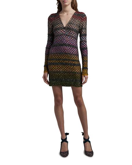 Missoni Beaded Fishnet Overlay Dress