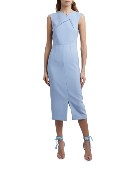 Roland Mouret Tikal Folded-Crepe Midi Dress