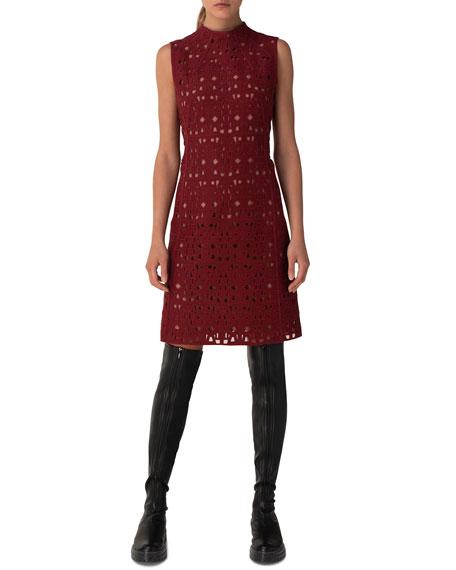 Akris Openwork Embroidered Sheath Dress