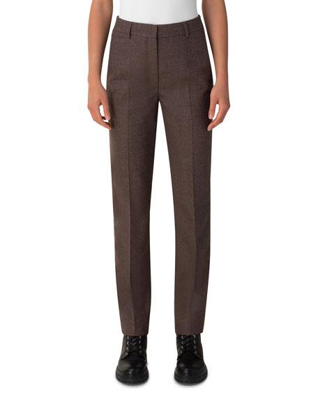 Akris Flavin Wool Flannel Pants
