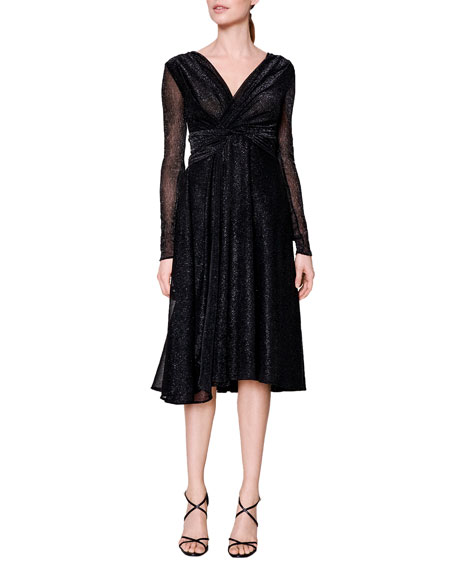 Talbot Runhof Colson Metallic Dress