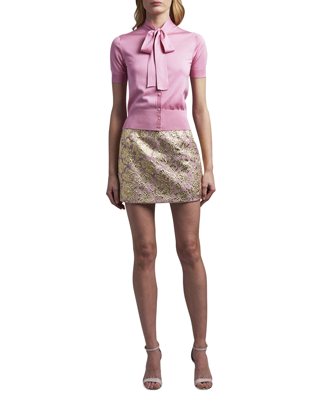 Dolce & Gabbana TIE-NECK BUTTON-FRONT TOP