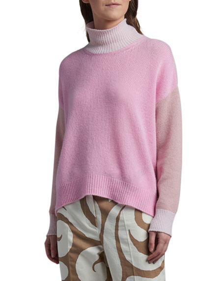 Marni Cashmere Colorblock Turtleneck Sweater