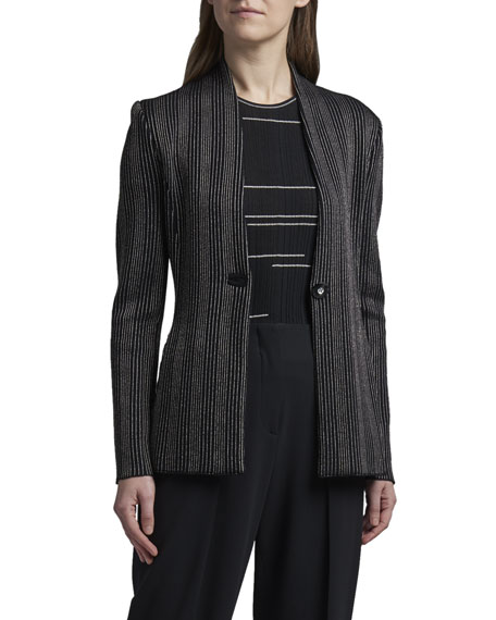 Giorgio Armani Vertical Striped Jersey Jacket