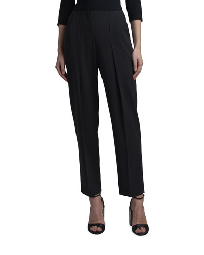 Drop-Pleated Pants