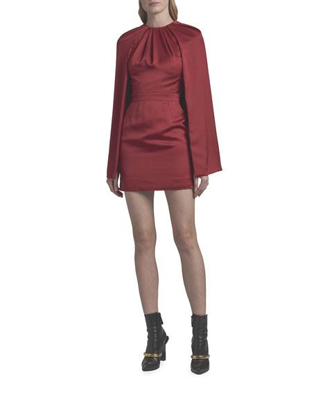 Alexander McQueen Silk Cocktail Dress with Cape