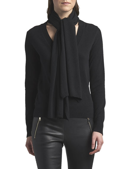 Alexander McQueen V-Neck Cashmere Sweater with Scarf