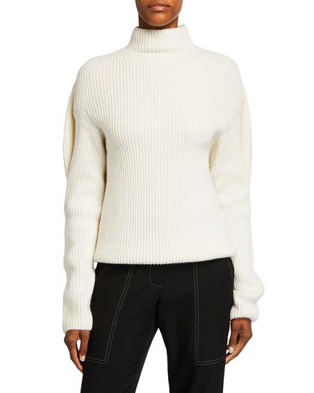 Nina Ricci Mock-Neck Sweater with Oversize Back