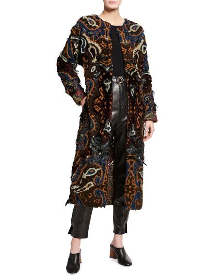 Ralph Lauren Collection Eve Paisley Shearling Coat