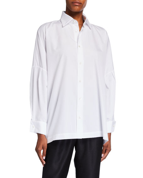 Eskandar Dropped-Shoulder Collared Button-Down Shirt