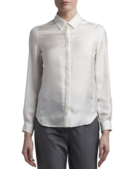 Agnona Silk Twill Shirt