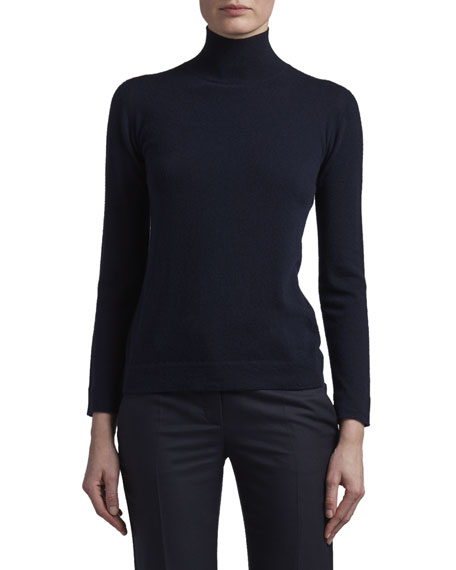 Agnona Cashmere Turtleneck Sweater with Tubular Finishing