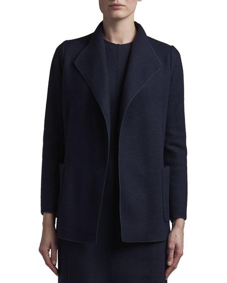 Agnona Cashmere Fluid-Collar Jacket