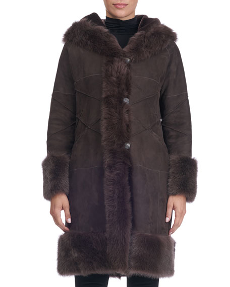 Christia Shearling Lamb Fur Parka with Toscana Trim