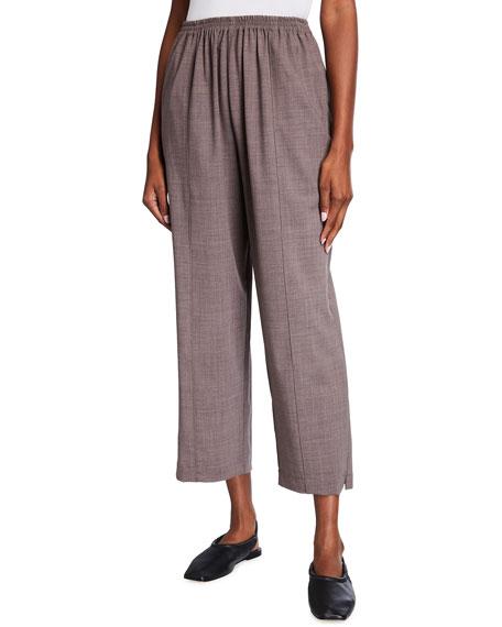 Eskandar Wool-Silk Relaxed Ankle Pants