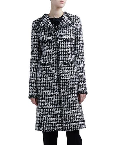 Windowpane Tweed Coat