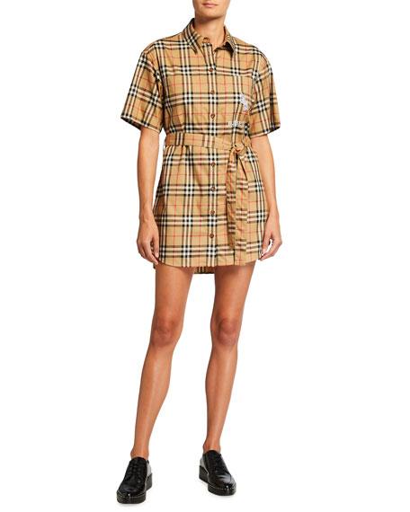 Burberry Rachel Short-Sleeve Shirtdress
