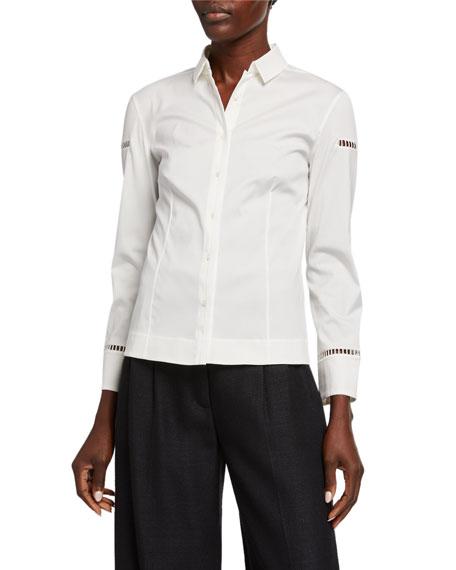 Akris Ladder-Inset Poplin Shirt