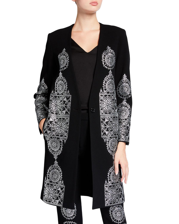 Gothic Spire V-Neck Coat