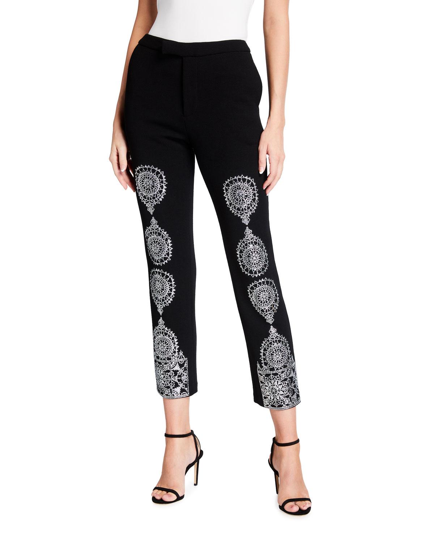 Gothic Spire Metallic Narrow Pants