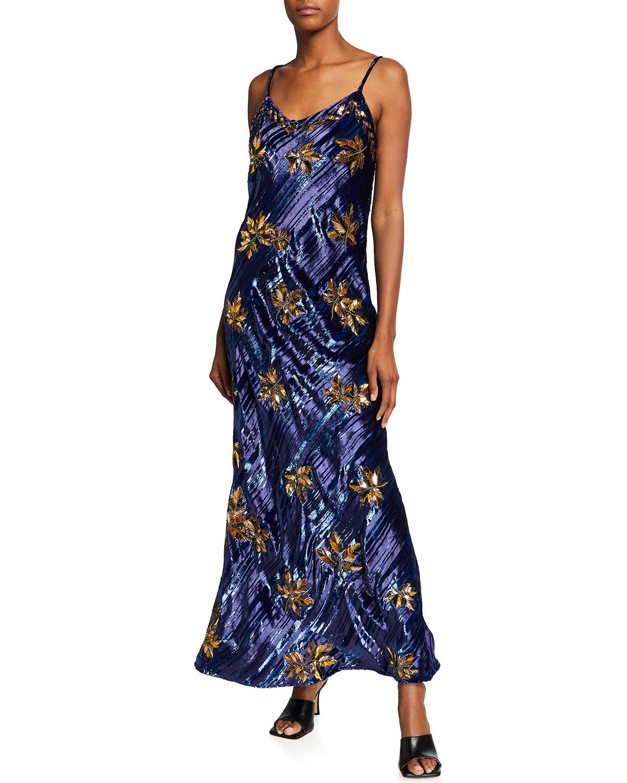 Marrakesh Embellished Velvet Dress