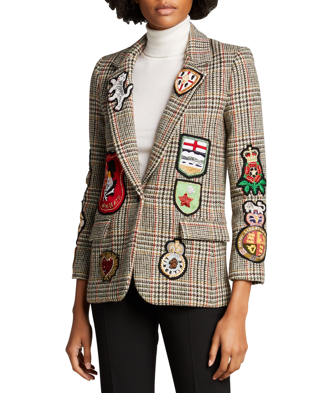 Autumn Plaid Wool Blazer