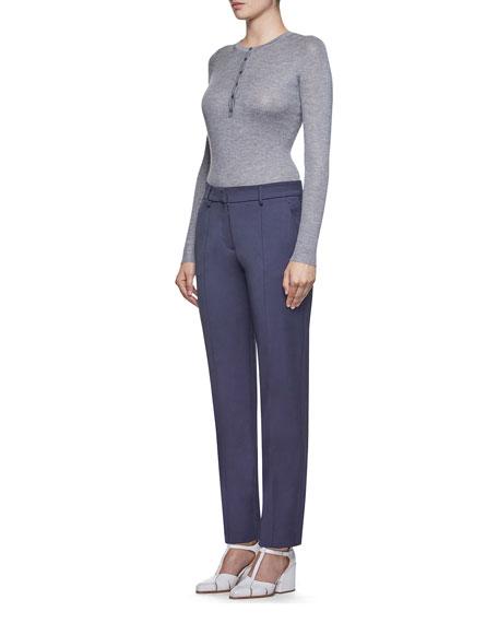 Gabriela Hearst Julian Cashmere-Silk Henley Sweater