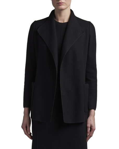 Agnona Cashmere Fluid-Collar Jacket