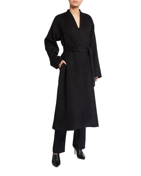 Co Long Cashmere Flannel Coat