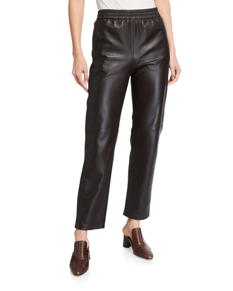Co Straight-Leg Leather Pants