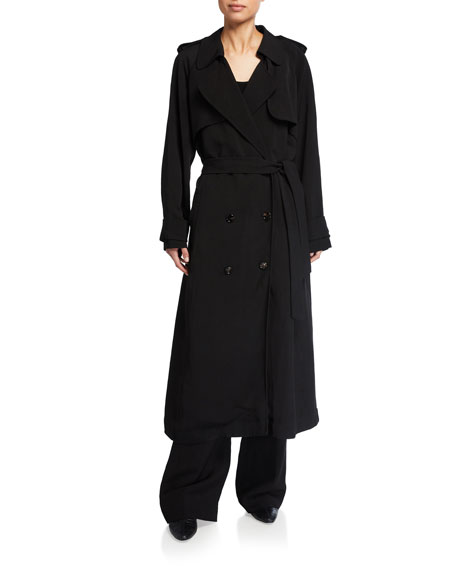 Co Long Linen Trench Coat