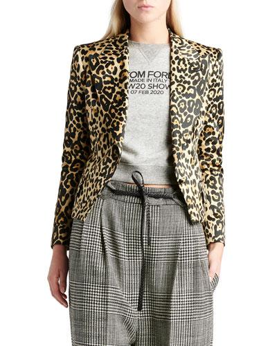 New Olympia Leopard Print Jacket
