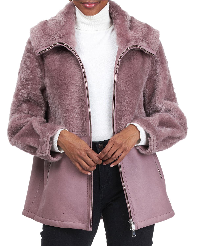 Shearling Lamb Jacket With Hood