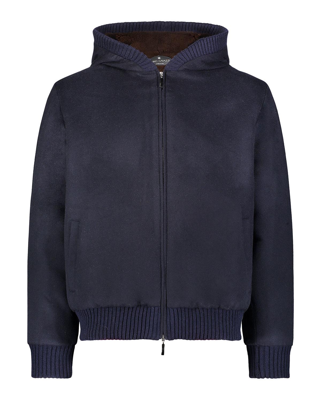 Wool-Cashmere Jacket w/ Mink Lining