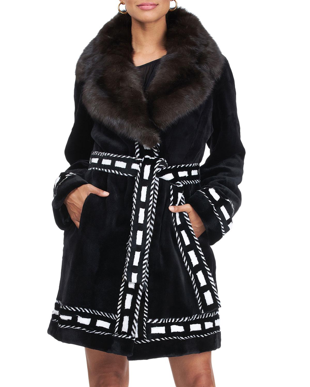 Mink & Sable Fur Belted Stroller