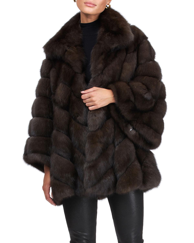 Chevron Russian Sable Jacket