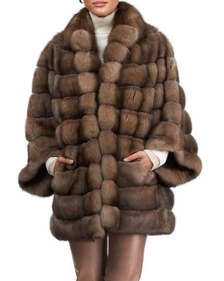 Maurizio Braschi Horizontal Sable Fur Jacket