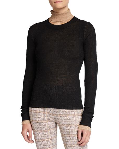 Rosetta Getty Crewneck Double-Body Sweater