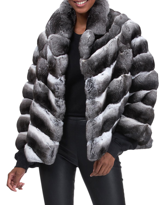 Chinchilla Chevron Jacket