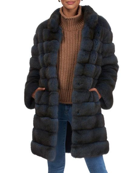 Gorski Short Horizontal Russian Sable Coat