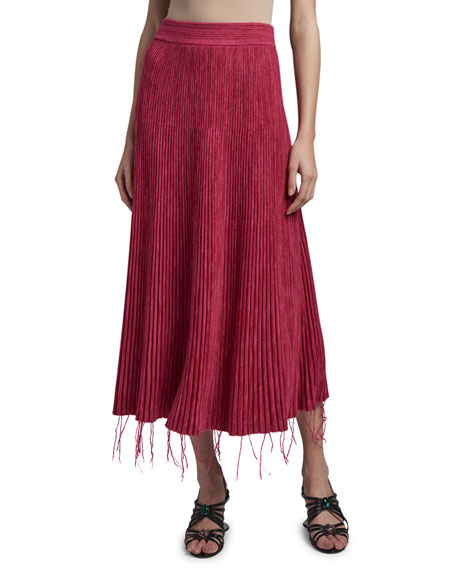 Marni Fringed Bottom Midi Skirt