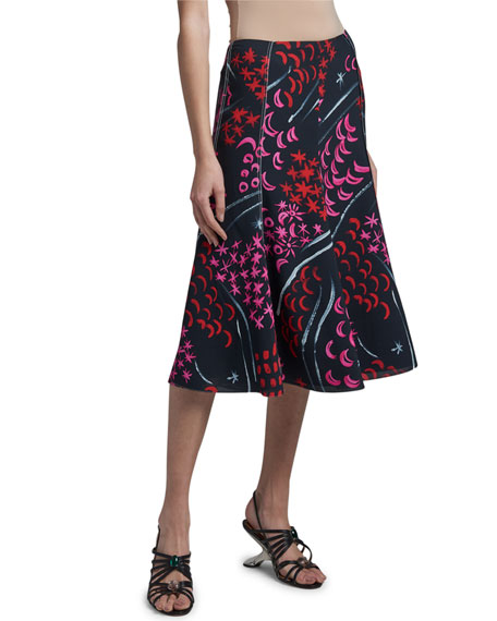 Marni Stars And Moon Print Skirt