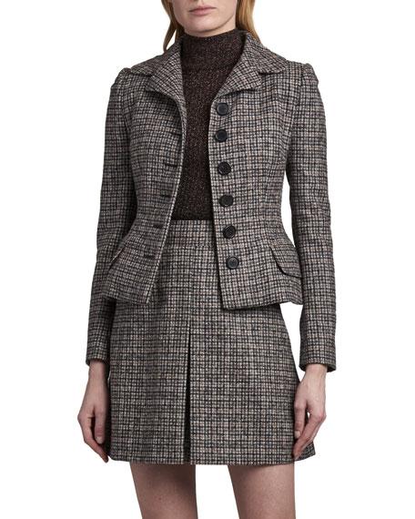 Dolce & Gabbana Tweed Peplum Blazer
