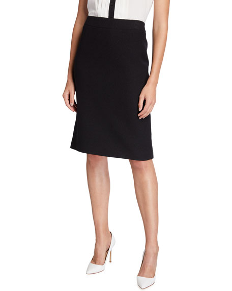 Maison Common Wool-Blend Classic Skirt