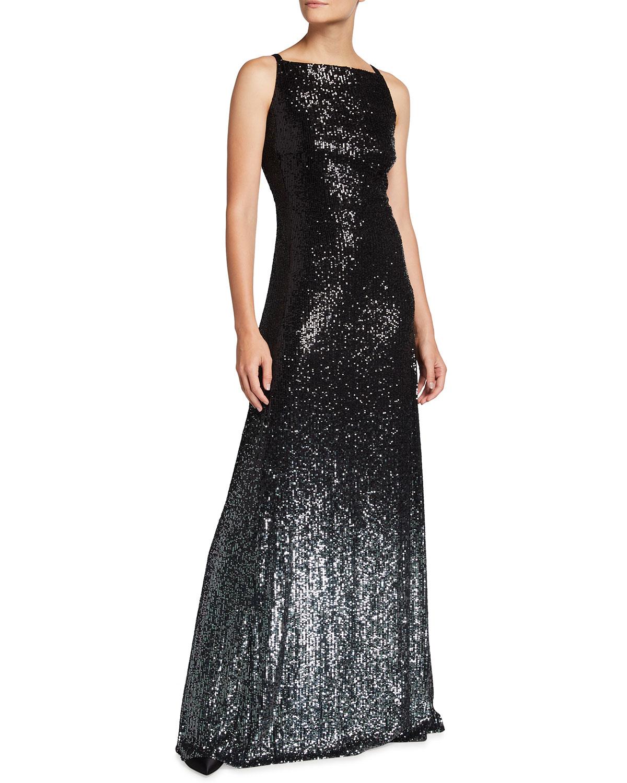 Sleeveless Sequin Degrade Dress